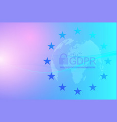 Gdpr - general data protection regulation dotted vector