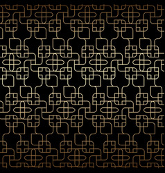 Golden linear seamless pattern art deco black vector