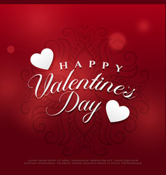 Gorgeous valentines day background design vector