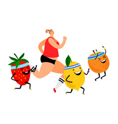 healthy vegan lifestyle vector image