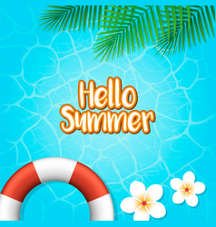 hello summer holiday background vector image