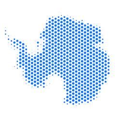 hexagon antarctica map vector image