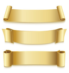 Holiday ribbons golden for new year christmas vector