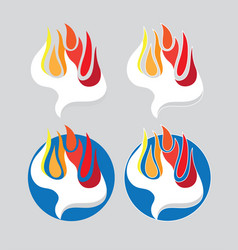 holy spirit fire logo vector image