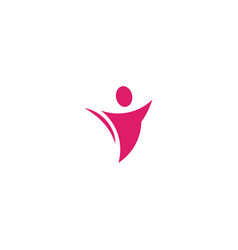 Isolated abstract pink color human body in motion vector