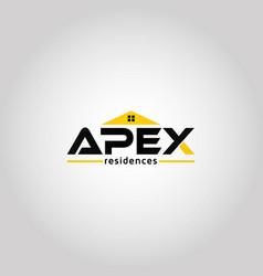 Letter apex real estate logo template idea vector