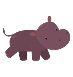 Little funny hippo vector