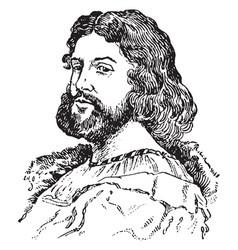Ludovico ariosto vintage vector