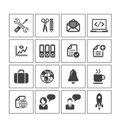Media icon sets vector