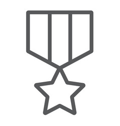 military star line icon label and army insignia vector image