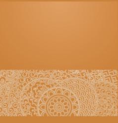 Orange circles japanese ornament vector