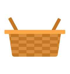 picnic basket icon flat isolated vector image
