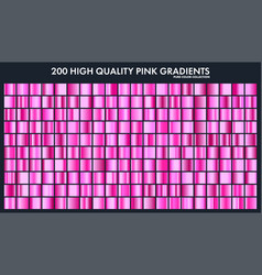 Pink chrome gradient setpatterntemplatelove vector