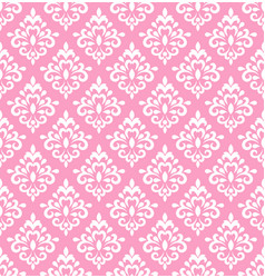Pink damask wallper vector