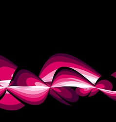 pink wave vector image