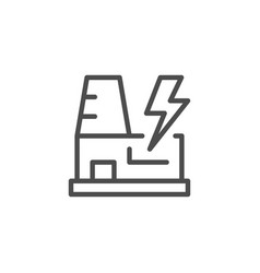 power station line outline icon vector image