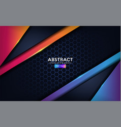 Premium dark modern abstract background with blue vector