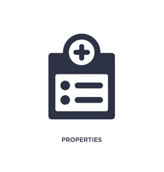 Properties icon on white background simple vector