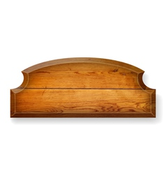 Realistic wooden board vector