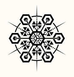sacred geometry 0069 vector image