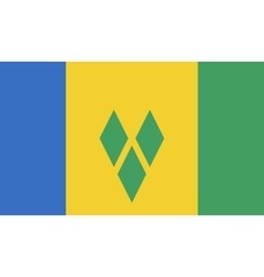 Saint Vincent and the Grenadines flag image vector