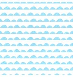 Scandinavian seamless blue pattern in hand drawn vector