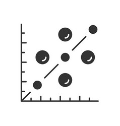 Scatter plot glyph icon scattergram mathematical vector