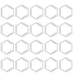 Seamless chemical benzene background vector image