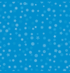 seamless pattern with snowflakes ice crystal vector image