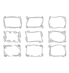 set of flourish frames collection of vector image