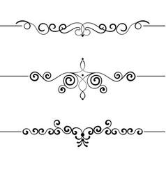 Set of vintage decorative curls swirls monograms vector