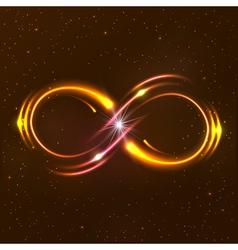 Shining infinity symbol vector image