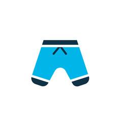 shorts icon colored symbol premium quality vector image