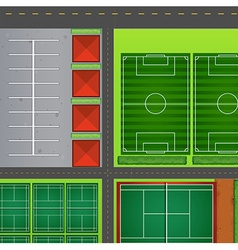 Sporting complex aeiral view vector image