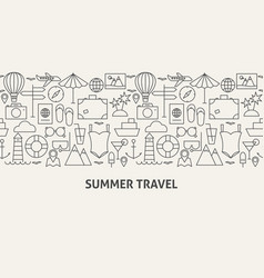 Summer travel banner concept vector