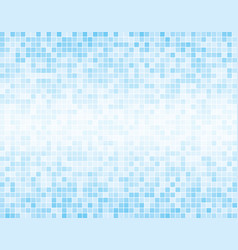 The light blue square mosaic tiles background vector