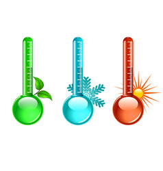 three color thermometer vector image