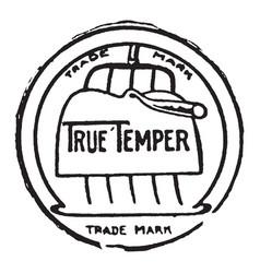 True temper seal vintage vector