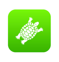 turtle icon digital green vector image