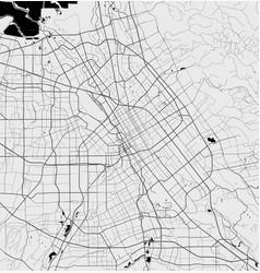 Urban city map san jose poster grayscale vector