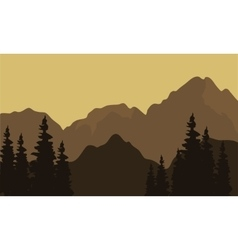 View of mountain silhouette vector image