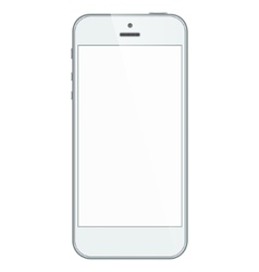 White business iphone 5s isolated on vector