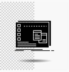 Window mac operational os program glyph icon on vector