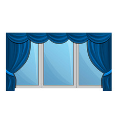windows blind icon cartoon style vector image