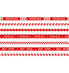 winter sale ribbons abstract christmas sale vector image