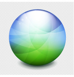 World green and blue ball transparent background vector