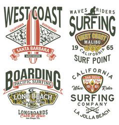 california west coast surfing team vector image vector image