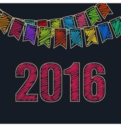 Christmas Festive Background 2016 vector image