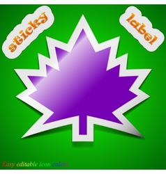Maple leaf icon sign symbol chic colored sticky vector