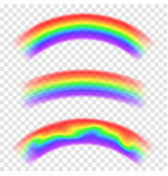 transparent rainbow isolated on background set of vector image